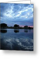Summer Sunset On Yakima River 5 Greeting Card