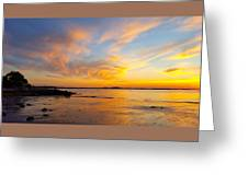 Summer Sunset Over Ipswich Bay Greeting Card