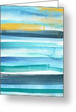 Summer Surf 2- Art By Linda Woods Greeting Card