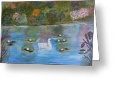 Summer Swan Greeting Card