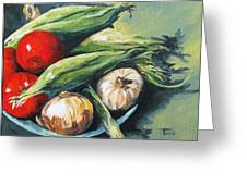 Summer Vegetables  Greeting Card