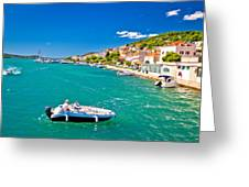 Summer View Of Tisno Coast Greeting Card