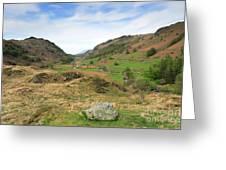 Summer, Watendlath Valley, Lake District National Park, Cumbria Greeting Card