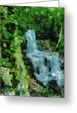 Summer Waterfall In West Milton Greeting Card