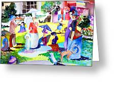 Summer With In The Park With George Greeting Card