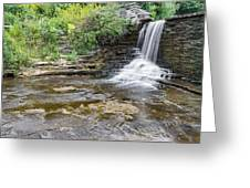Summer's Waterfall Greeting Card