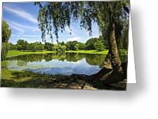 Summertime At Otsiningo Park Greeting Card by Christina Rollo