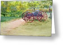 Summertime At The Barn Greeting Card
