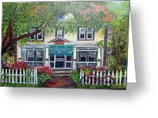 Summertime At The Black Duck Inn Greeting Card