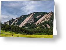 Summertime At The Flatirons Greeting Card