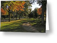 Summit Avenue In The Fall Greeting Card
