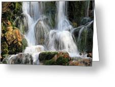 Summit Creek Waterfalls Greeting Card