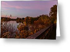 Summit Lake Magic Hour  Greeting Card