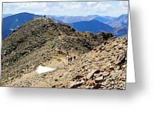 Summit On Mount Massive Summit Greeting Card