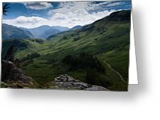 Summit View To Scaffell Greeting Card