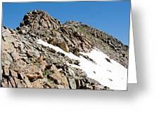 Summiting The Mount Massive Summit Greeting Card