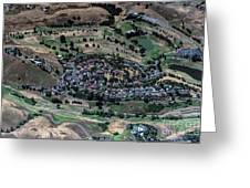 Summitpointe Golf Club Golf Course Aerial Greeting Card