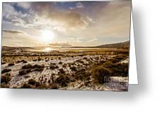 Sun Above Lake Argentino Greeting Card