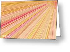 Sun Abstract Greeting Card