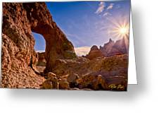 Sun And Arch Greeting Card