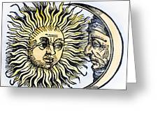 Sun And Moon, 1493 Greeting Card