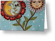 Sun And Moon Greeting Card