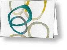 Sun And Sky- Abstract Art Greeting Card by Linda Woods
