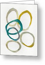 Sun And Sky- Abstract Art Greeting Card