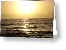 Sun At Sea Greeting Card