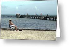 Sun Bathing Greeting Card