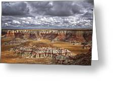 Sun Breaks And Passing Clouds Over Arizona's Remote Ha Ho No Geh Canyon. Greeting Card