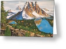 Sun Burst Peak Canada  Greeting Card