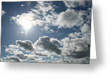 Sun Clouds Greeting Card