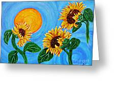 Sun Dance Greeting Card by Sarah Loft