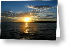 Sun Down Day Greeting Card
