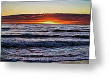 Sun-down Greeting Card