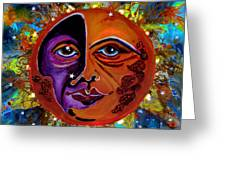 Sun Duality Greeting Card
