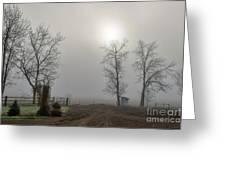 Sun Filtered Through Fog Greeting Card