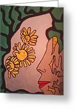 Sun Flower Conection Greeting Card