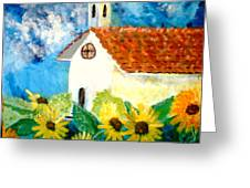Sun Flowers Dance At San Marin Greeting Card