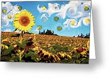 Sun Flowers Field Greeting Card