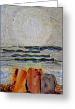 Sun Fog Rocks Greeting Card