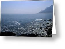 Sun Glints Off Te Ocean Near Cape Greeting Card