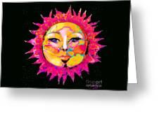 Sun Goddess She Sun Greeting Card