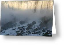 Sun Going Down On American Falls Greeting Card