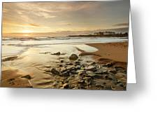 Sun Going Down Over Spanish Point Greeting Card