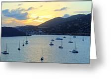 Sun Had Set In St. Thomas Greeting Card