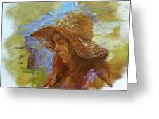 Sun Hat #1 Greeting Card