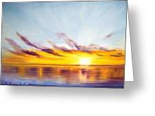 Sun In A Lake Greeting Card