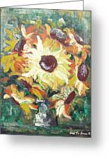 Sun In A Vase Greeting Card